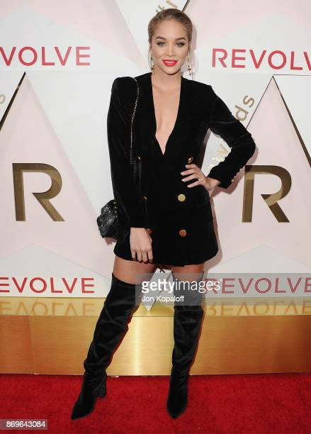 Jasmine Sanders arrives at #REVOLVEawards at DREAM Hollywood on November 2 2017 in Hollywood California