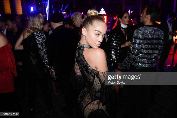 Jasmine Sanders attends L'Oreal Paris X Balmain Party as part of the Paris Fashion Week Womenswear Spring/Summer 2018 on September 28 2017 in Paris...