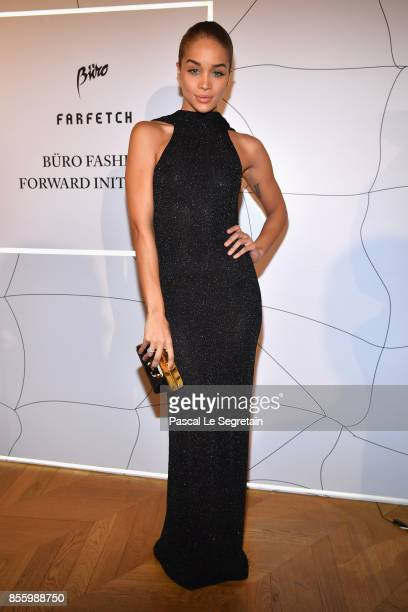 Jasmine Sanders attends the Buro 24/7 X Farfetch Fashion Forward Initiative as part of the Paris Fashion Week Womenswear Spring/Summer 2018 at Hotel...