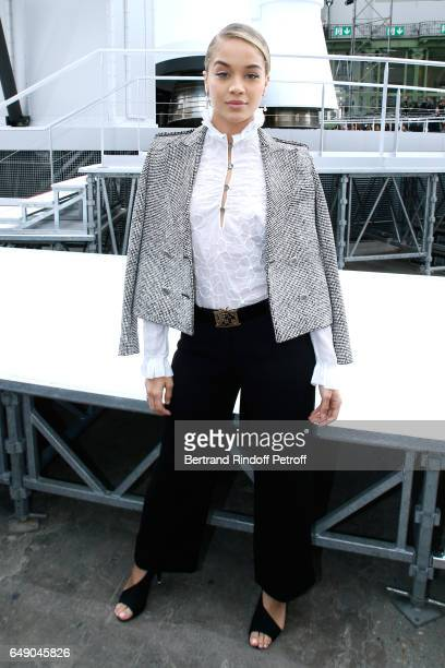 Jasmine Sanders attends the Chanel show as part of the Paris Fashion Week Womenswear Fall/Winter 2017/2018 on March 7 2017 in Paris France