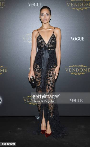Jasmine Sanders attends the Irving Penn Exhibition Private Viewing Hosted by Vogue as part of the Paris Fashion Week Womenswear Spring/Summer 2018 on...