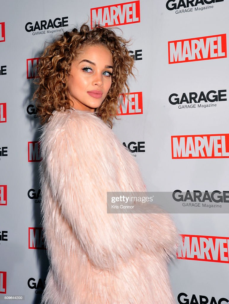Jasmine Sanders attends the Marvel and Garage Magazine New York Fashion Week Event on February 11, 2016 in New York City.