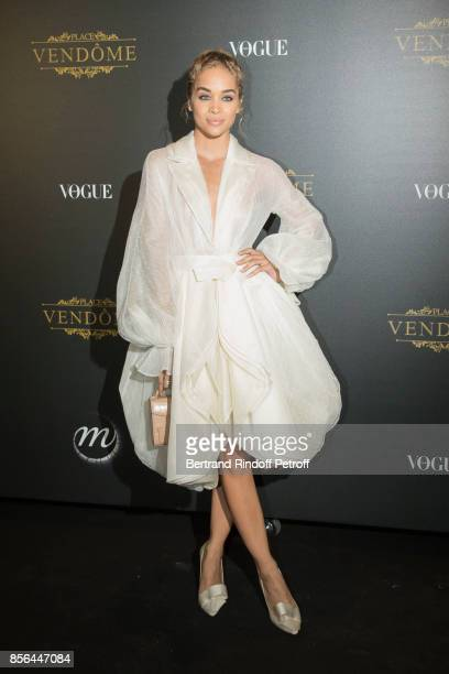 Jasmine Sanders attends Vogue Party as part of the Paris Fashion Week Womenswear Spring/Summer 2018 at on October 1 2017 in Paris France