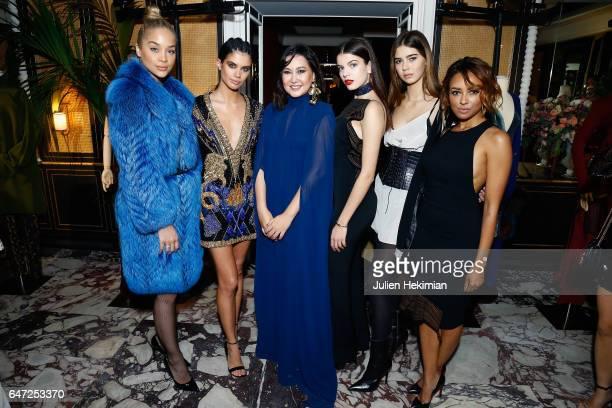 Jasmine Sanders Sara Sampaio Angelys Balek Sonia Ben Ammar Helena Gatsby and Kat Graham attend the Vogue Thailand dinner celebrating Angelys Balek as...