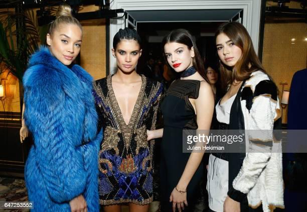 Jasmine Sanders Sara Sampaio Sonia Ben Ammar and Helena Gatsby attend the Vogue Thailand dinner celebrating Angelys Balek as part of Paris Fashion...