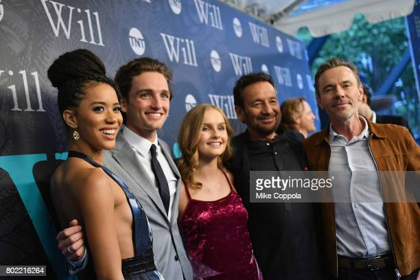 Jasmine Savoy Brown Laurie Davidson Oliva DeJonge Shekhar Kapur and Craig Pearce attend TNT's Season One 'Will' Premiere at Bryant Park on June 27...