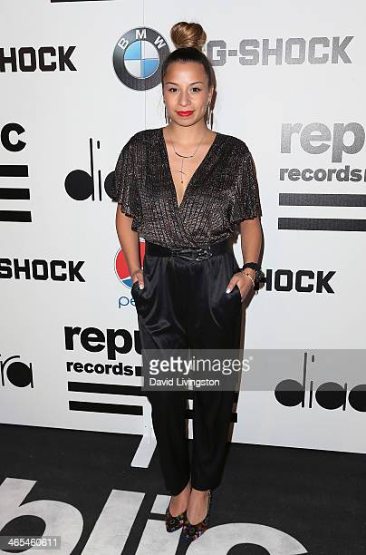Jasmine Solano attends Republic Records Post Grammy Party at 1 OAK on January 26 2014 in West Hollywood California