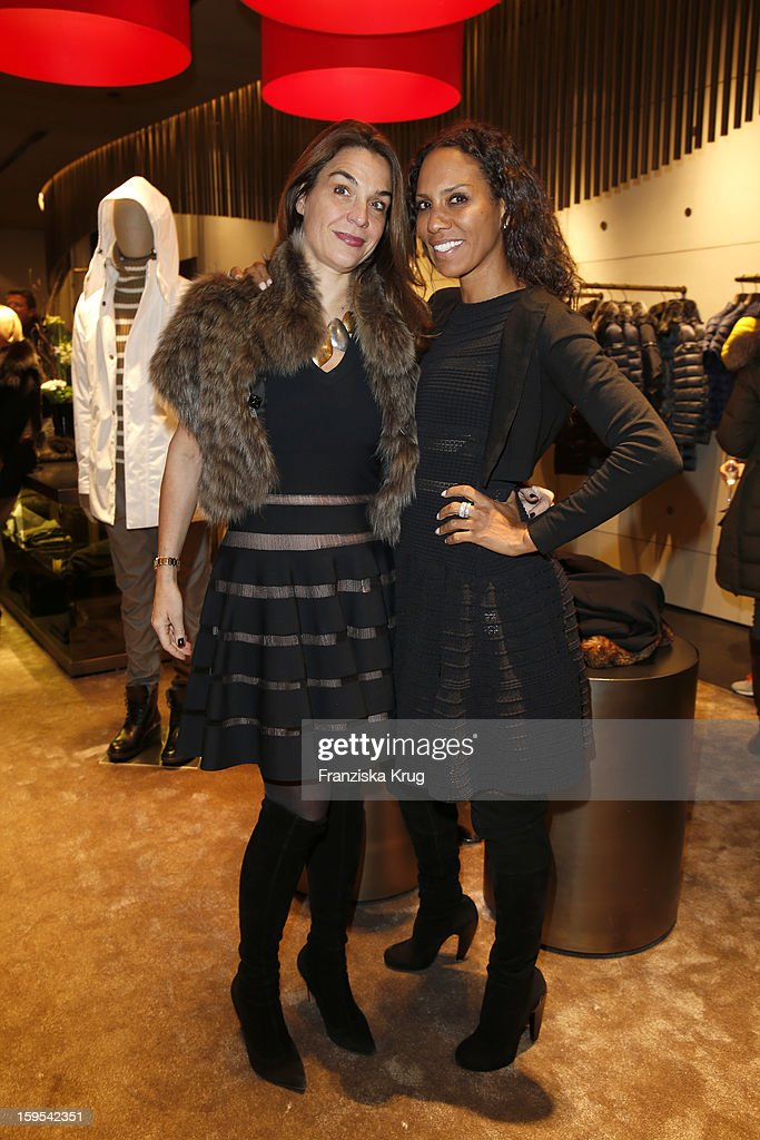Jasmine Spezie and Barbara Becker attend the 'Peuterey Cocktail Party' at Peuterey flagship store Kurfuerstendamm on January 15, 2013 in Berlin, Germany.