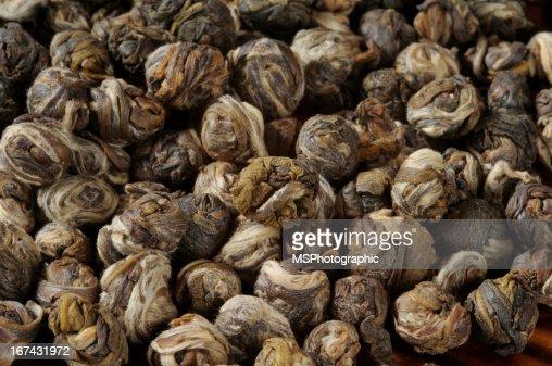 Jasmine tea pearls : Stock Photo