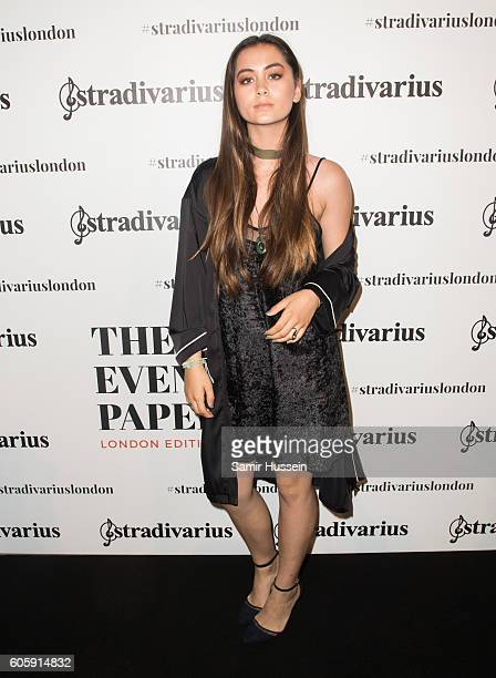Jasmine Thompson attends the Stradivarius Oxford Street store launch party on September 15 2016 in London England