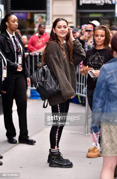 Jasmine Thompson leaves 'AOL Build' taping at BUILD Studio on May 23 2017 in New York City