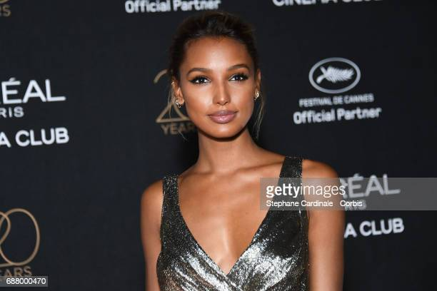 Jasmine Tookes attends Gala 20th Birthday of L'Oreal In Cannes during the 70th annual Cannes Film Festival at Martinez Hotel on May 24 2017 in Cannes...