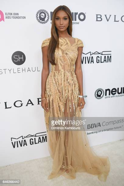 Jasmine Tookes attends the 25th Annual Elton John AIDS Foundation's Academy Awards Viewing Party at The City of West Hollywood Park on February 26...