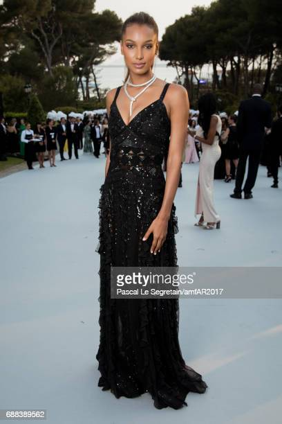 Jasmine Tookes attends the amfAR Gala Cannes 2017 at Hotel du CapEdenRoc on May 25 2017 in Cap d'Antibes France