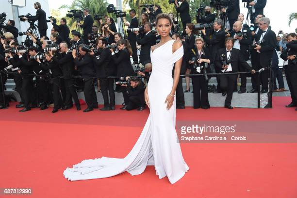 Jasmine Tookes attends 'The Beguiled' premiere during the 70th annual Cannes Film Festival at Palais des Festivals on May 24 2017 in Cannes France