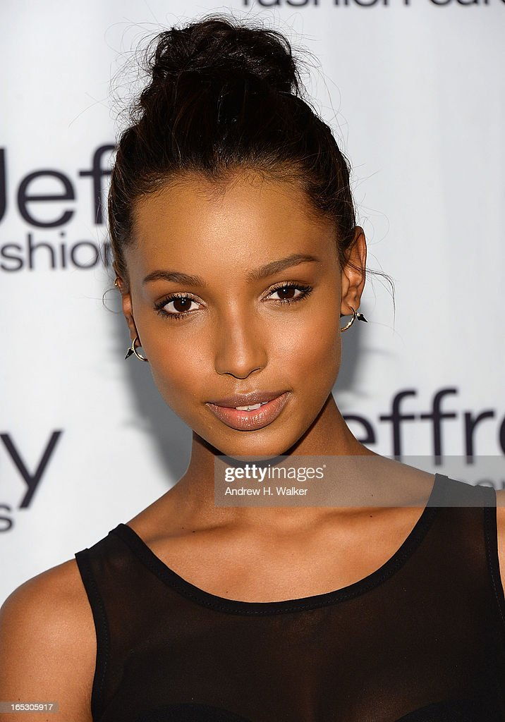 Jasmine Tookes attends the Jeffrey Fashion Cares 10th Anniversary Celebration at The Intrepid on April 2, 2013 in New York City.