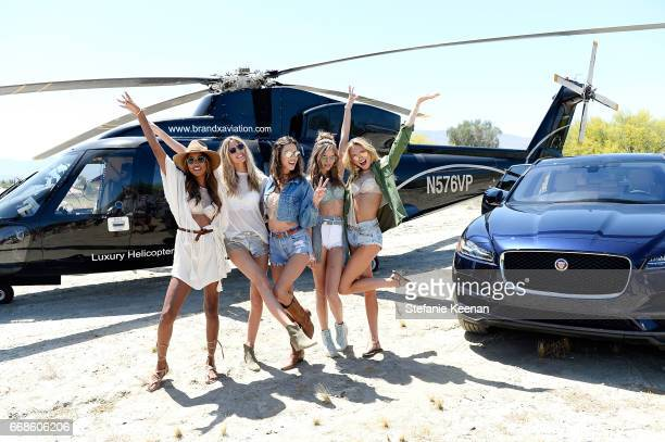 Jasmine Tookes Martha Hunt Alessandra Ambrosio Josephine Skriver and Romee Strijd attend Victoria's Secret Angels Celebrate the Sexy Little Things...