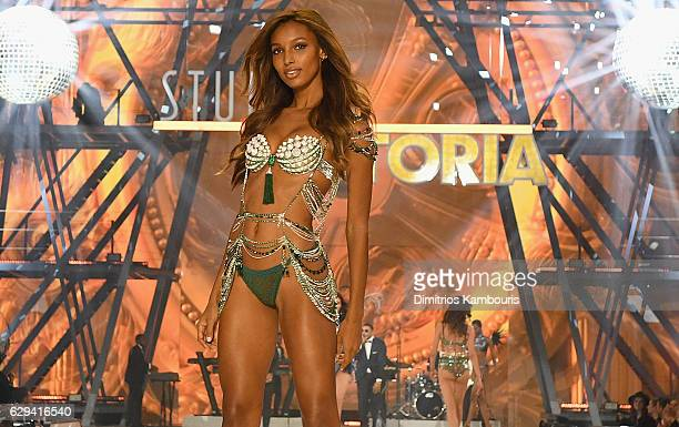 Jasmine Tookes walks during the 2016 Victoria's Secret Fashion Show on November 30 2016 in Paris France