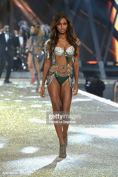Jasmine Tookes walks the runway at the Victoria's Secret Fashion Show on November 30 2016 in Paris France