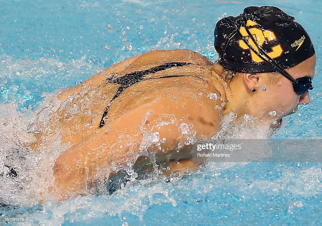 Jasmine Tosky swims in the Women's 200 Butterfly during day three of the 2012 AT&T Winter National Championships on December 1, 2012 at the Lee and Joe Jamail Texas Swimming Center in Austin, Texas.