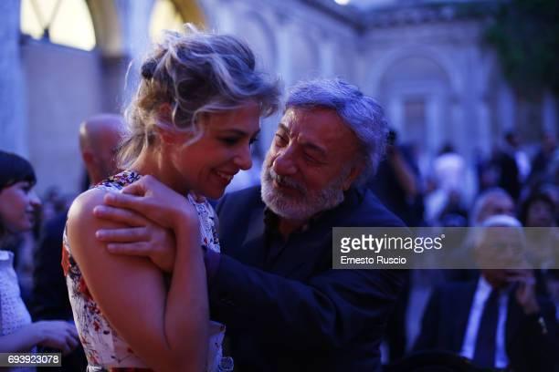 Jasmine Trinca and Gianni Amelio attend Ciak D'Oro 2017 on June 8 2017 in Rome Italy