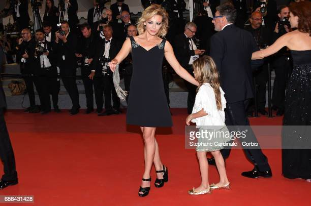 Jasmine Trinca and Nicole Centanni of' 'Fortunata' attend the 'Redoubtable ' screening during the 70th annual Cannes Film Festival at Palais des...