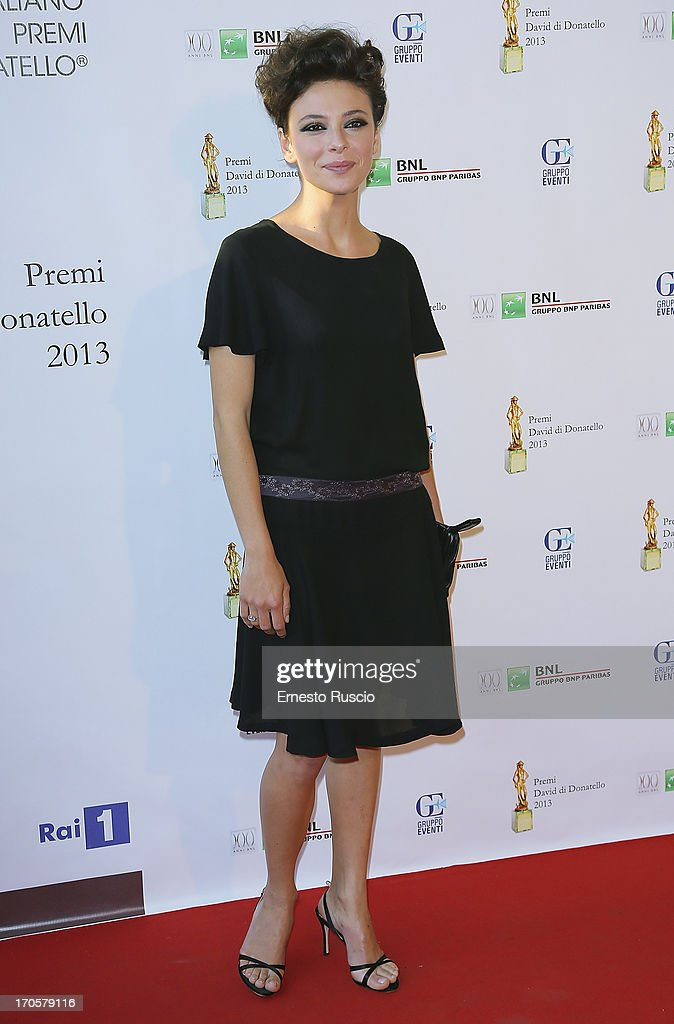 <a gi-track='captionPersonalityLinkClicked' href=/galleries/search?phrase=Jasmine+Trinca&family=editorial&specificpeople=622594 ng-click='$event.stopPropagation()'>Jasmine Trinca</a> attends the David di Donatello Ceremony Awards at Dear on June 14, 2013 in Rome, Italy.