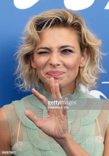 Jasmine Trinca attends the Jury photocall during the 74th Venice Film Festival on August 30 2017 in Venice Italy