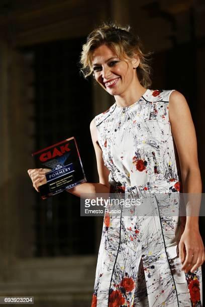Jasmine Trinca recives the Ciak D'Oro 2017 award at Link Campus University on June 8 2017 in Rome Italy