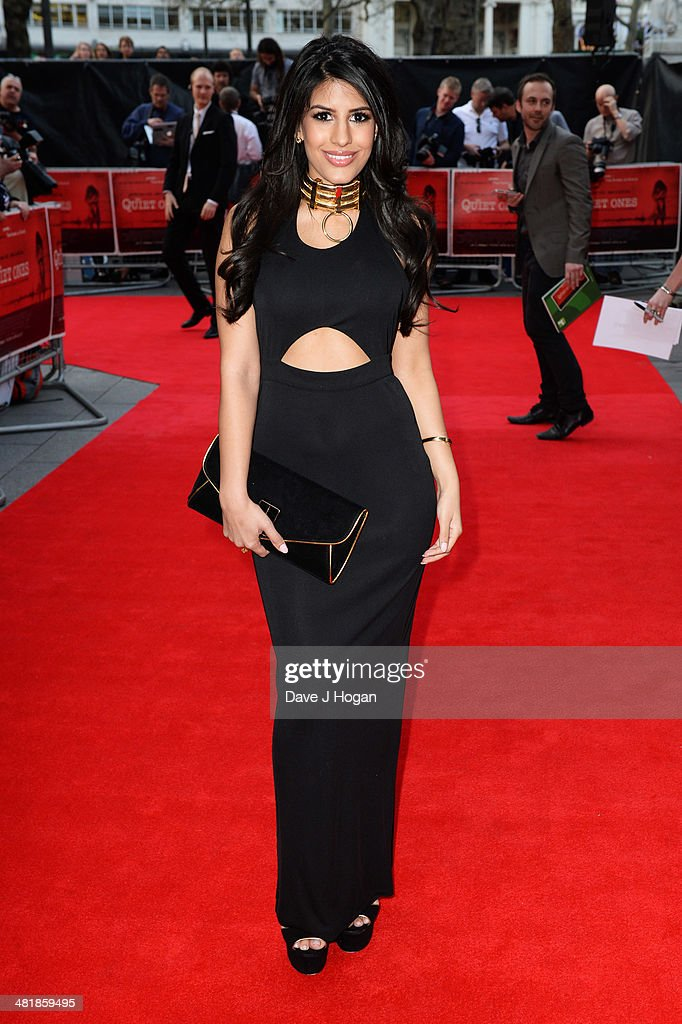 Jasmine Walia attends the world premiere of 'The Quiet Ones' at The Odeon West End on April 1, 2014 in London, England.