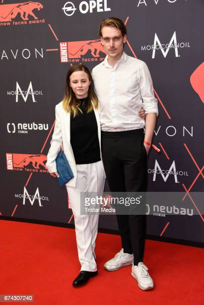 Jasna Fritzi Bauer and guest attend the New Faces Award Film at Haus Ungarn on April 27 2017 in Berlin Germany