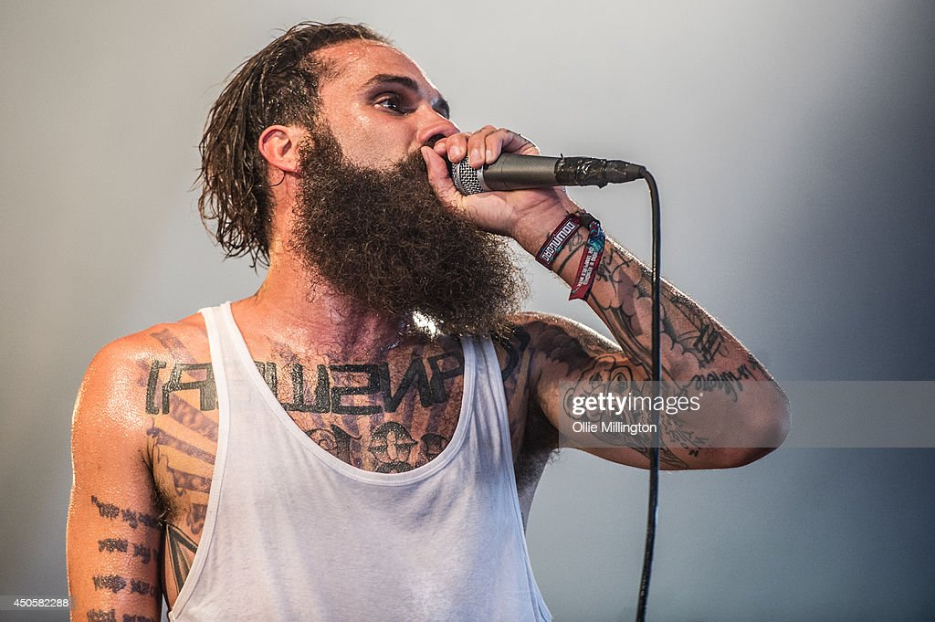 Jason Aalon Alexander Butler of letlive performs on stage at Download Festival at Donnington Park on June 13, 2014 in Donnington, United Kingdom.