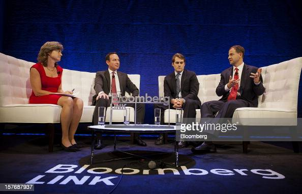 Jason Ader chief executive officer and chief investment officer at Ader Investment Management LLC from second left Gregory Hall senior managing...