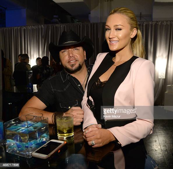 Jason Aldean and Brittany Kerr attend the Tidal launch event #TIDALforALL at Skylight at Moynihan Station on March 30 2015 in New York City