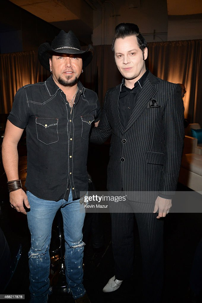 Jason Aldean and Jack White attend the Tidal launch event #TIDALforALL at Skylight at Moynihan Station on March 30, 2015 in New York City.