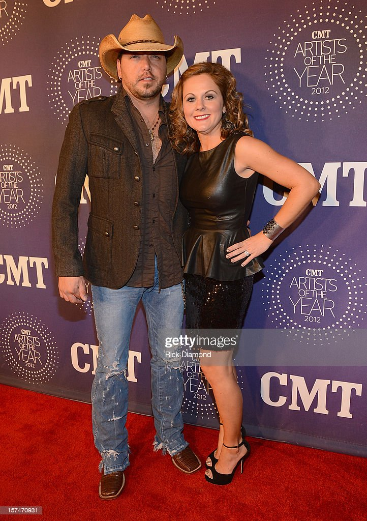 <a gi-track='captionPersonalityLinkClicked' href=/galleries/search?phrase=Jason+Aldean&family=editorial&specificpeople=619221 ng-click='$event.stopPropagation()'>Jason Aldean</a> and Jessica Ussery Aldean attend the 2012 CMT Artists Of The Year at The Factory at Franklin on December 3, 2012 in Franklin, Tennessee.