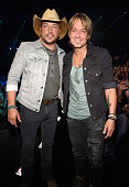 Jason Aldean and Keith Urban attend the 2016 CMT Music awards at the Bridgestone Arena on June 8 2016 in Nashville Tennessee