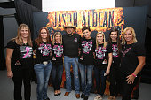 Jason Aldean meet and greet his fans before his Ninth Annual 'Concert For The Cure' at The Palace of Auburn Hills on October 11 2014 in Auburn Hills...