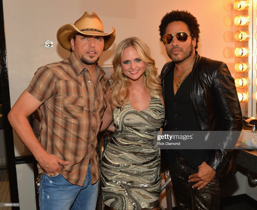 <a gi-track='captionPersonalityLinkClicked' href=/galleries/search?phrase=Jason+Aldean&family=editorial&specificpeople=619221 ng-click='$event.stopPropagation()'>Jason Aldean</a>, <a gi-track='captionPersonalityLinkClicked' href=/galleries/search?phrase=Miranda+Lambert&family=editorial&specificpeople=571972 ng-click='$event.stopPropagation()'>Miranda Lambert</a> and <a gi-track='captionPersonalityLinkClicked' href=/galleries/search?phrase=Lenny+Kravitz&family=editorial&specificpeople=171613 ng-click='$event.stopPropagation()'>Lenny Kravitz</a> attend the 2013 CMT Music awards at the Bridgestone Arena on June 5, 2013 in Nashville, Tennessee.