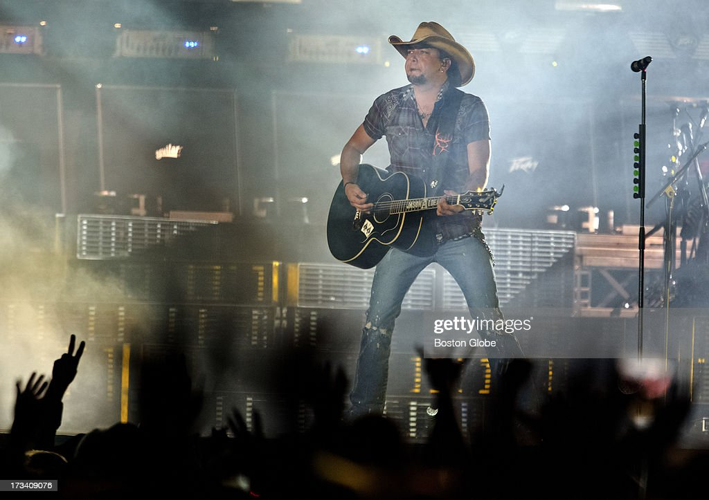 Jason Aldean performs at Fenway Park on Friday, July 12, 2013.