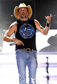 Jason Aldean performs during Country Jam USA on July 23 2016 in Eau Claire Wisconsin