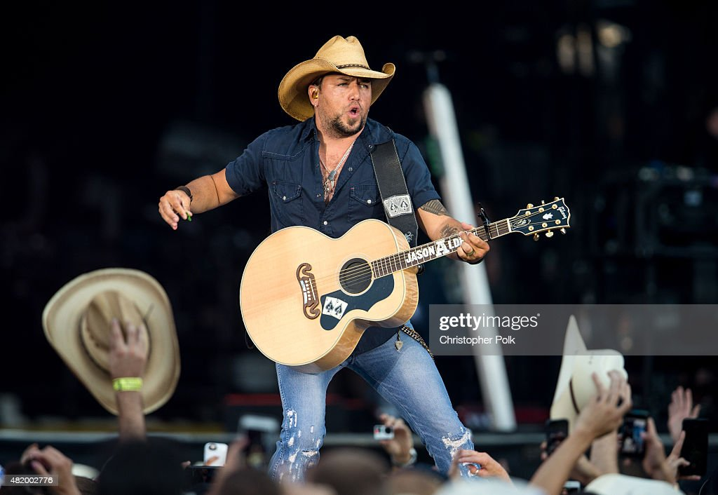 <a gi-track='captionPersonalityLinkClicked' href=/galleries/search?phrase=Jason+Aldean&family=editorial&specificpeople=619221 ng-click='$event.stopPropagation()'>Jason Aldean</a> performs during Kenny Chesney's The Big Revival Tour & <a gi-track='captionPersonalityLinkClicked' href=/galleries/search?phrase=Jason+Aldean&family=editorial&specificpeople=619221 ng-click='$event.stopPropagation()'>Jason Aldean</a>'s Burn It Down 2015 at Rose Bowl on July 25, 2015 in Pasadena, California.