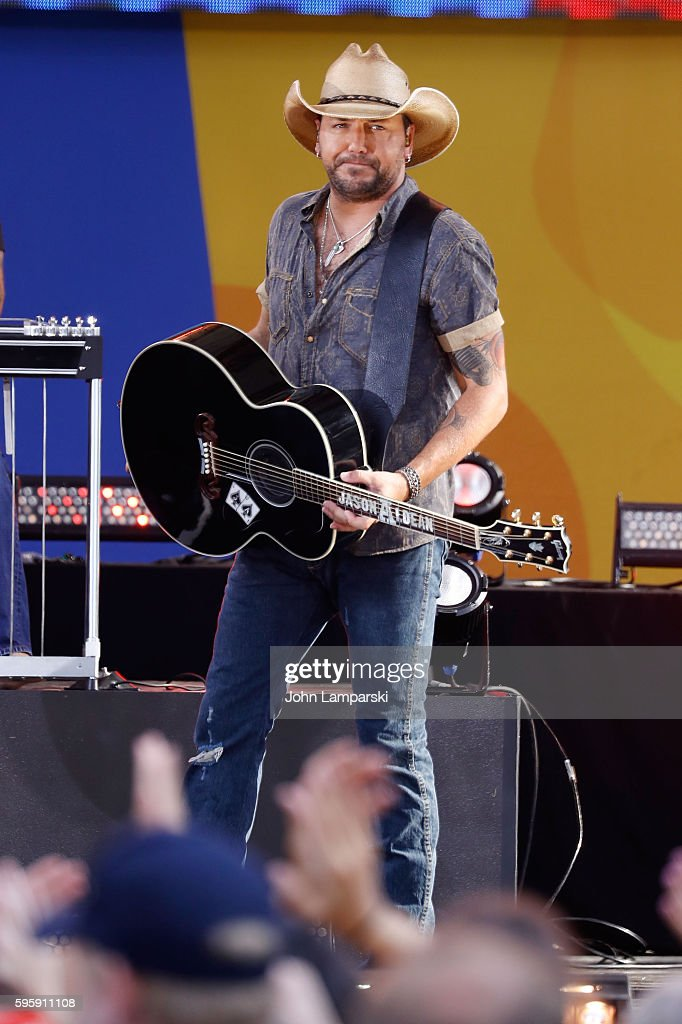 Jason Aldean performs on ABC's 'Good Morning America' at SummerStage at Rumsey Playfield Central Park on August 26 2016 in New York City