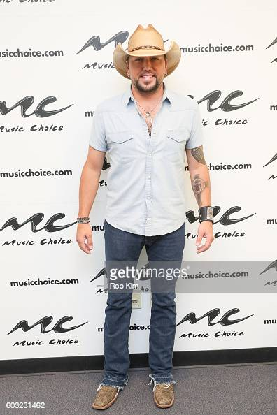 Jason Aldean visits Music Choice on September 12 2016 in New York City