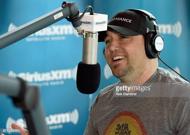 Jason Aldean Visits Storme Warren 'The Highway' on SiriusXM Nashville at SiriusXM Studios on April 14 2016 in Nashville Tennessee