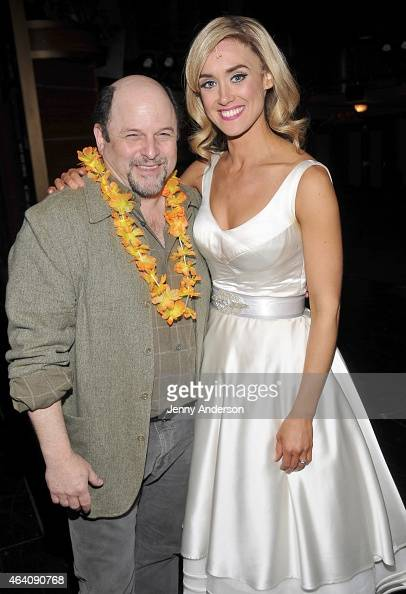 Jason Alexander and Brynn O'Malley backstage at 'Honeymoon In Vegas' at the Nederlander Theatre on February 21 2015 in New York City