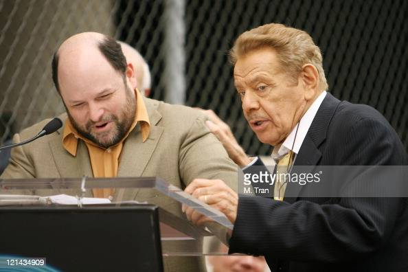 Jason Alexander and Jerry Stiller during Jerry Stiller and Anne Meara Honored with a Star on the Hollywood Walk of Fame at 7018 Hollywood Blvd in...
