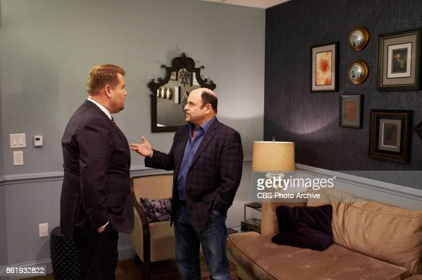 Jason Alexander chats in the green room with James Corden during 'The Late Late Show with James Corden' Tuesday October 10 2017 On The CBS Television...