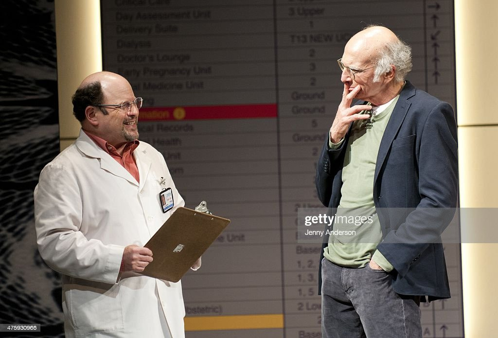 "Jason Alexander Visits Larry David On Stage During ""Fish ..."