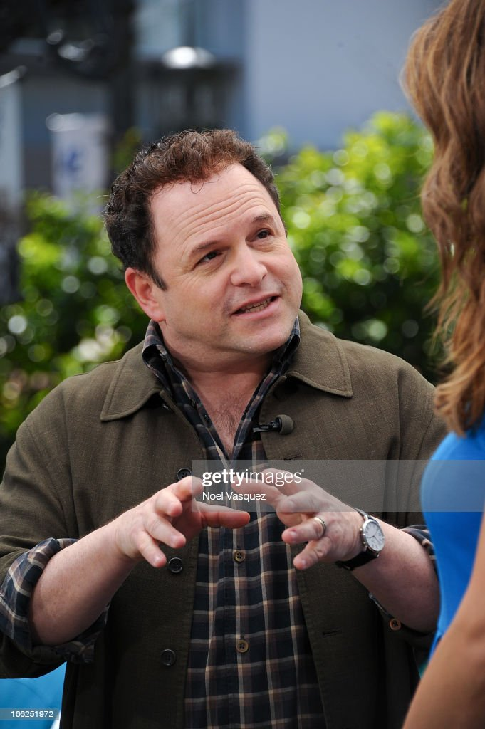 <a gi-track='captionPersonalityLinkClicked' href=/galleries/search?phrase=Jason+Alexander+-+Actor&family=editorial&specificpeople=11399423 ng-click='$event.stopPropagation()'>Jason Alexander</a> visits 'Extra' at The Grove on April 10, 2013 in Los Angeles, California.